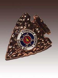 3D Lapel Pin for Cowichan Bowmen Archery Club